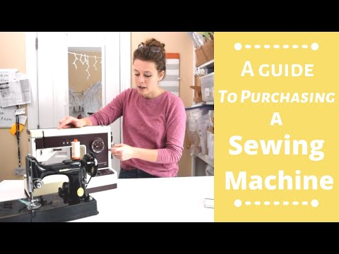 A Guide To Purchasing A Sewing Machine