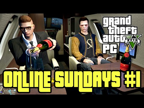 GTA 5 PC Online Funny Moments - Fist Fight, Failed flight, Hacker Joins - Online Sundays #1