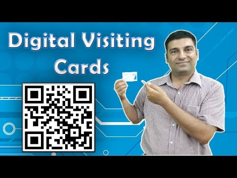 How to use QR code to make Business cards? Hindi