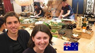老舗の炉端焼き!オーストラリア人カップルが食す!/ Japanese traditionla grilled dishes!