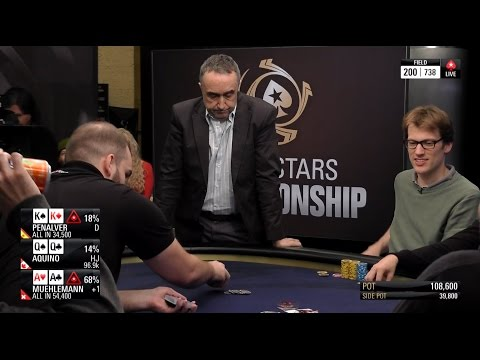 AA vs KK vs QQ at the PokerStars Championship Bahamas Main Event Day 2