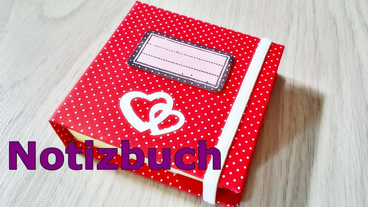 basteln notizbuch selbst basteln post it buch zum mitnehmen diy notice book youtube. Black Bedroom Furniture Sets. Home Design Ideas