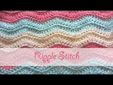 Simple Ripple Stitch Crochet Tutorial