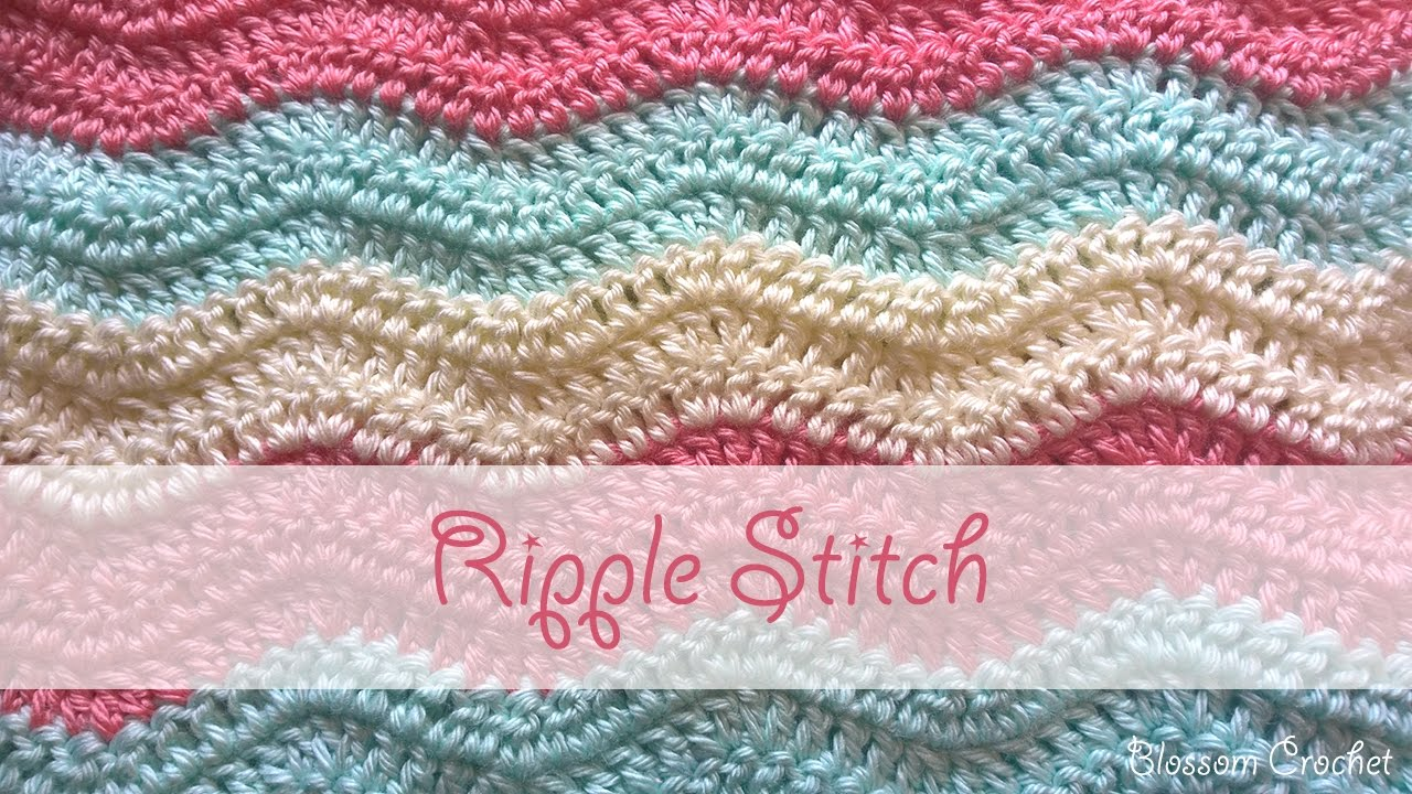 Simple Ripple Stitch Crochet Tutorial Youtube