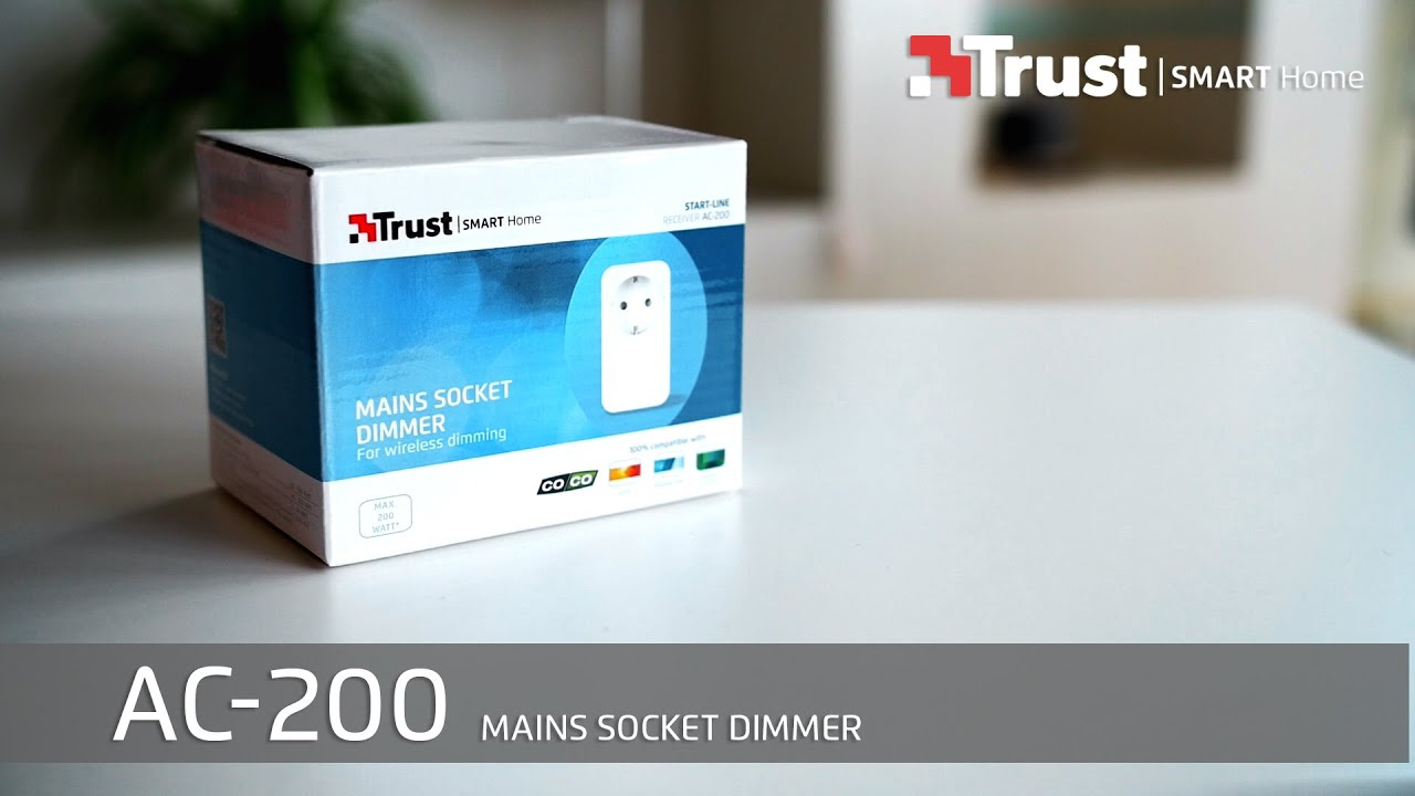 Smart Home Dimmer Trust Smart Home Installation Ac 200 Mains Socket Dimmer Spanish