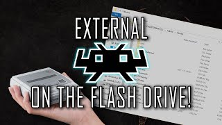 EXTERNAL RETROARCH ON THE SNES CLASSIC | Retroarch on the flash drive!