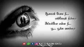 Usurukkul Un Pera Ezhuthi Vachen Song... Whatsapp Status...