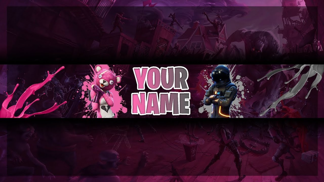 Free Fortnite Banner Template | Youtube Channel Art | Photoshop CS6