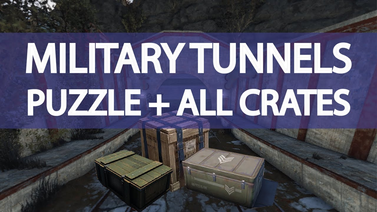 Military Tunnels Guide - THE PUZZLE + CRATES + SCIENTISTS - Rust 2018