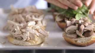 Chicken Herb Sandwiches With Warm Nappa Salad
