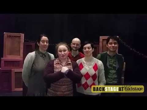 christmas greetings from the cast of branar theatres production of twas the night before christmas - The Night Before Christmas Cast