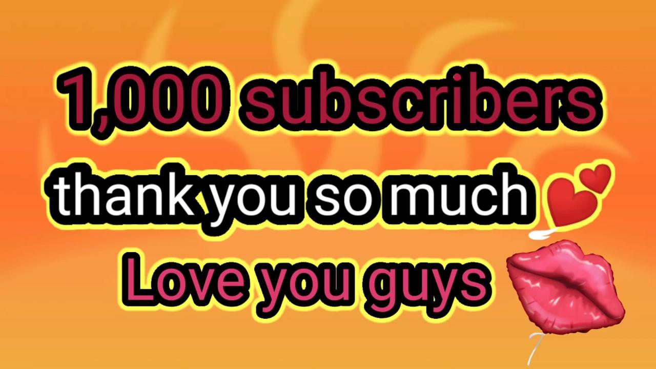Happy 1,000 subscribers mga ka YT