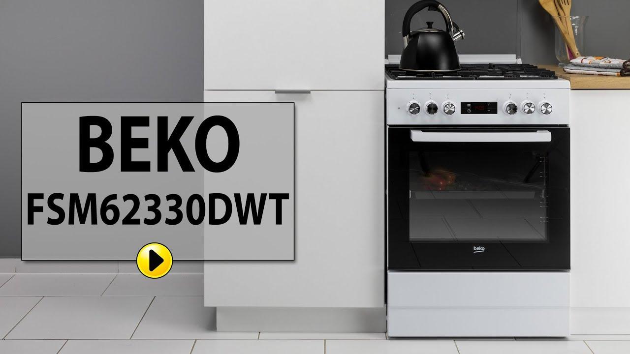 Kuchnia Beko Fsm62330dwt Youtube