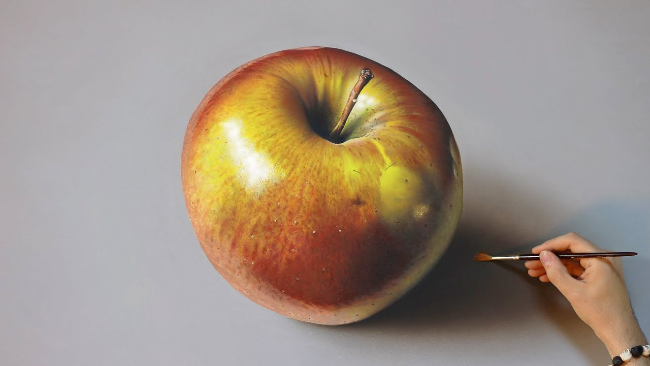 How To Paint An Apple In Acrylics