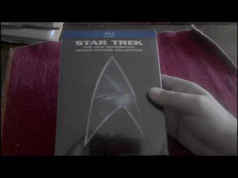 Unboxing Star Trek the Next Generation Motion Picture Collection on Bluray