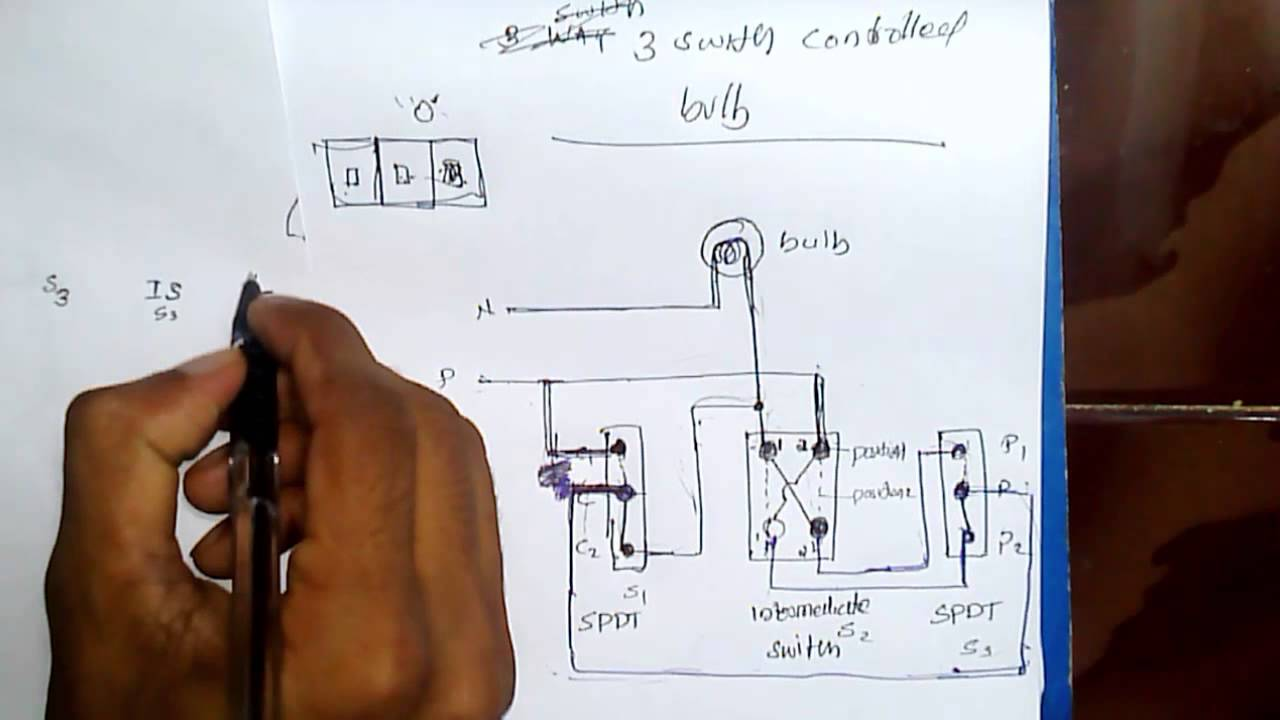 Three switch and single bulb - YouTube