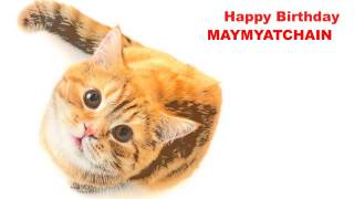 Maymyatchain   Cats Gatos - Happy Birthday
