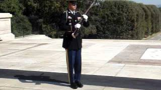 Tomb of the unknown - soldier yelling at laughing crowd
