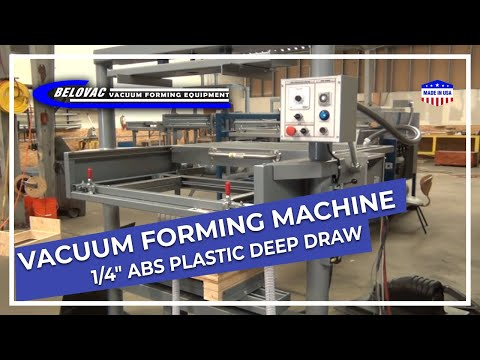 Vacuum Forming 1 4 Quot Abs Plastic Deep Draw Youtube