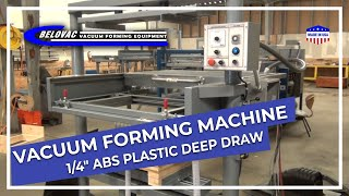 "Vacuum Forming 1/4"" ABS plastic Deep Draw"
