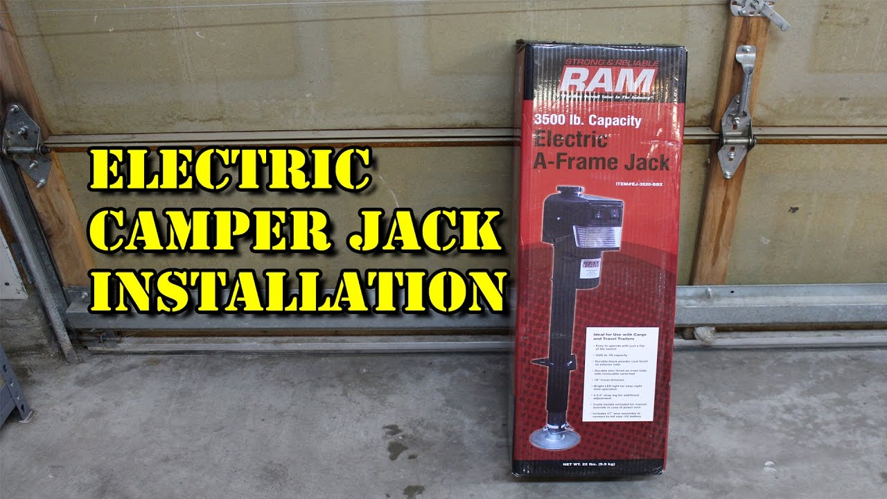 how to install an electric camper jack electric tongue jack on trailer hydraulic jack ram 3500 lb [ 1280 x 720 Pixel ]