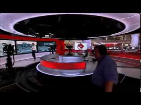 BBC News at Six - cameraman in shot