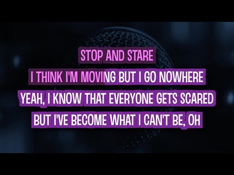 Stop And Stare Karaoke Version by One Republic (Video with Lyrics)