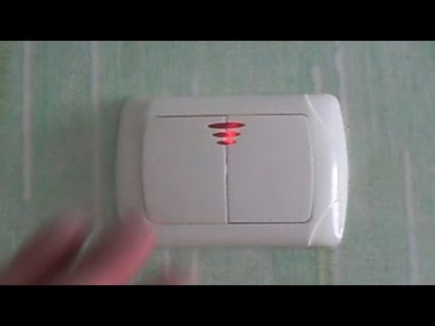 (VIKO) Установка 2-х клавишного выключателя со светодиодами