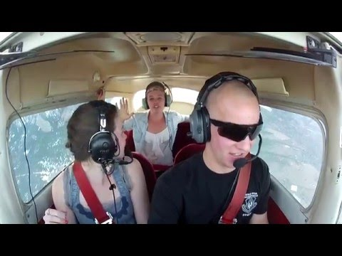 Zero G push over with two girls Awesome reaction!