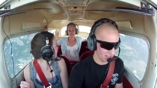 Zero G push over with two girls - Awesome reaction!