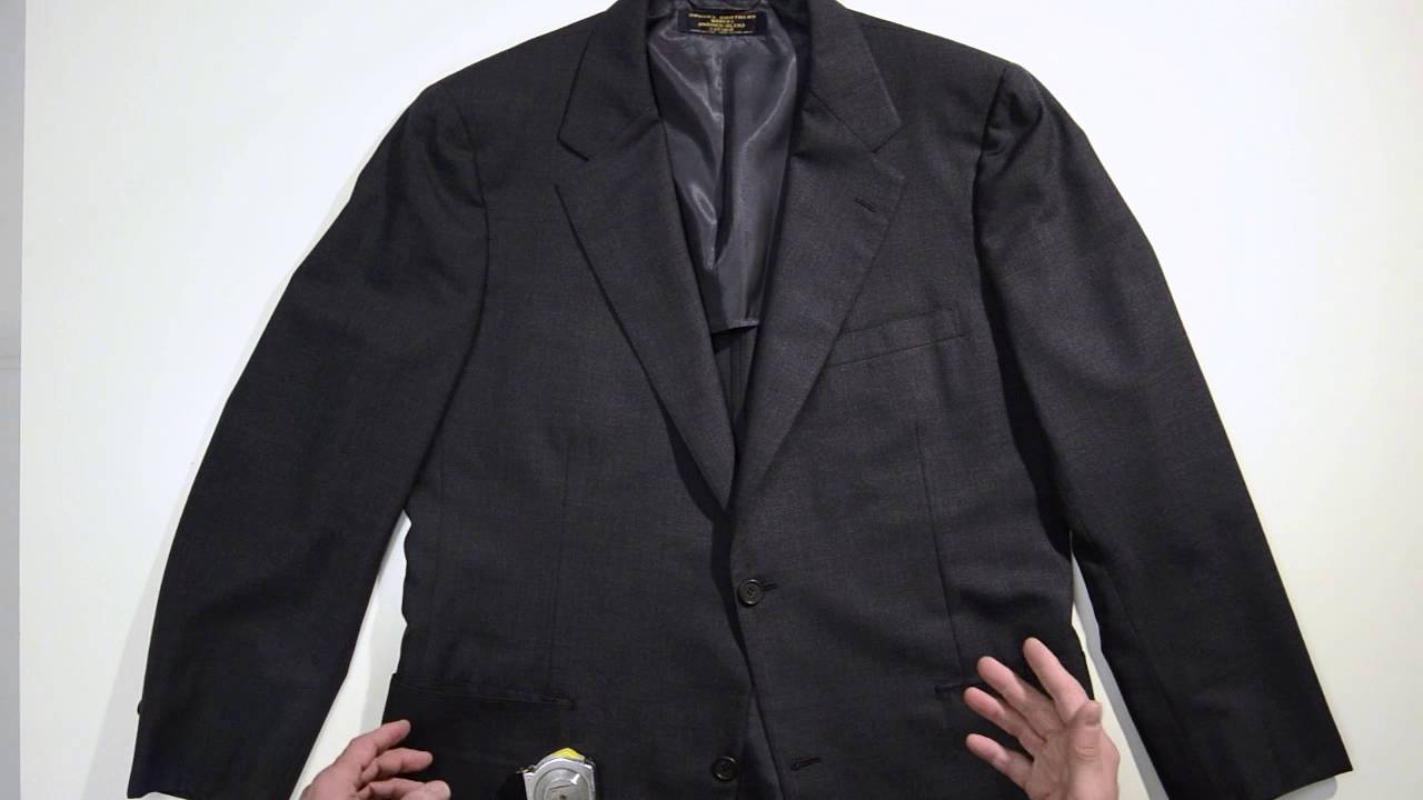 measuring a suit jacket for ebay youtube