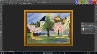 Рамка для картин в Photoshop