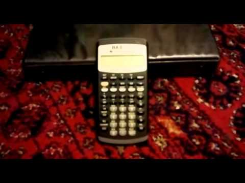 How to calculate PV using BA II Plus Texas instruments calculator