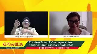 Download Rooftop Solar PV sebagai solusi  penghematan Listrik untuk Desa | KEPOin DESA #022