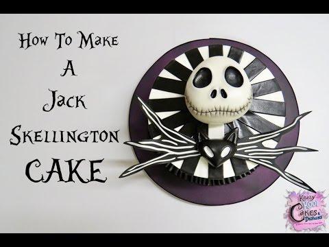 Jack Skellington Nightmare Before Christmas Cake EASY How To YouTube