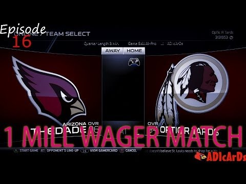 Madden 25 Ultimate Team | 1 Million Wager Match | Game 1 | Jamaal Charles CLUTCH IT! | MUT 25