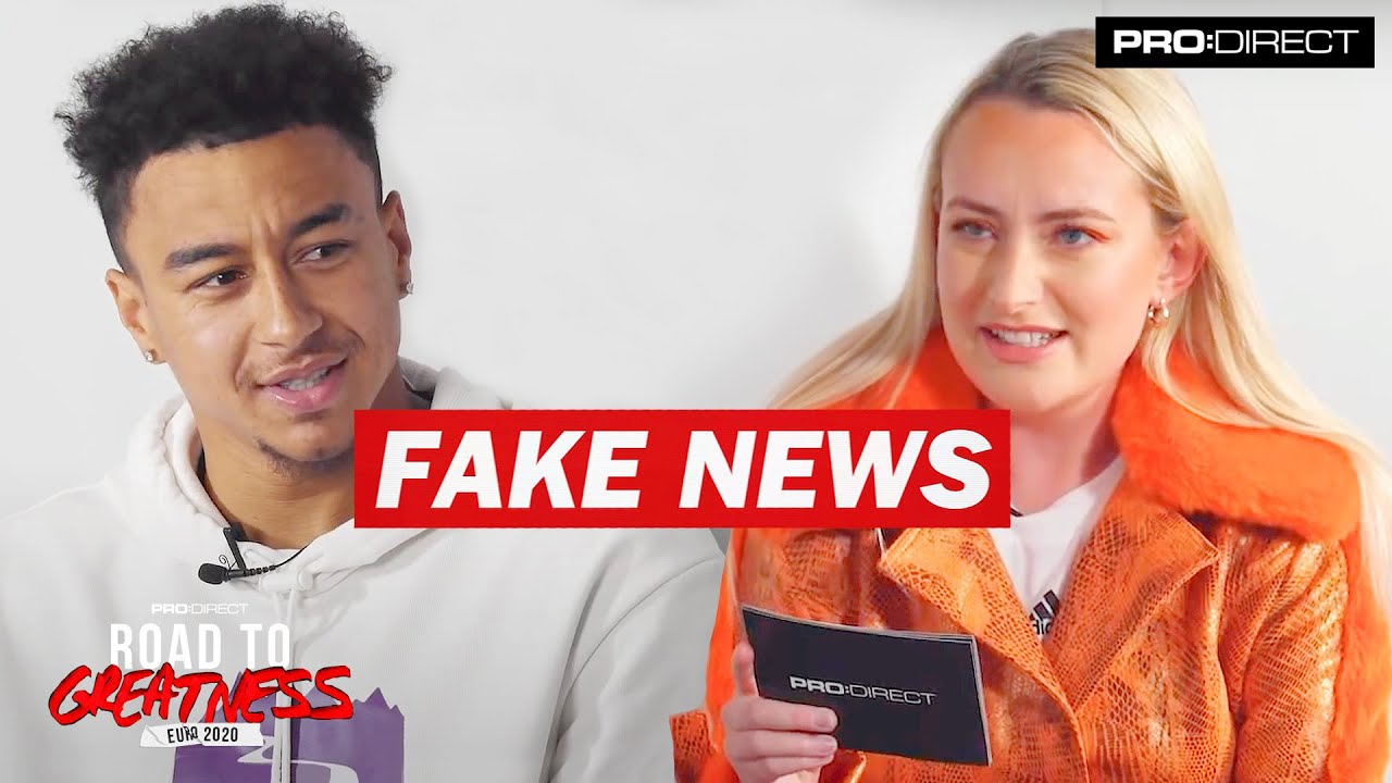 JESSE LINGARD | FAKE NEWS WITH AMELIA DIMOLDENBERG