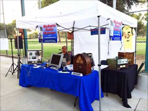 Modesto Radio Museum l booth at Modesto Nuts BB game.
