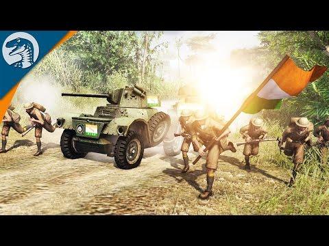 BRUTAL WAR IN INDIA | The Rising Sun | Men of War: Assault Squad 2 [MOD] Gameplay