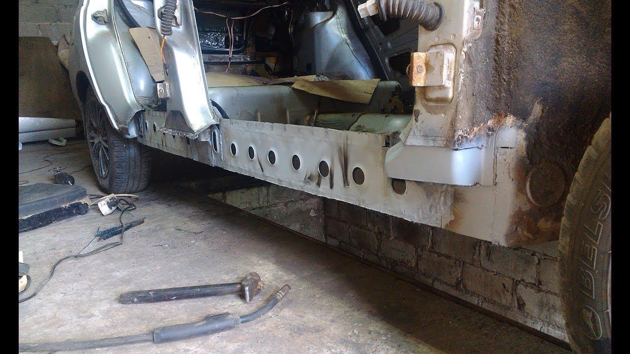 ВАЗ 2110 Замена порога и ремонт днища. Часть 3. Финиш ...
