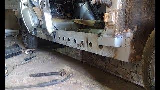 ВАЗ 2110 Замена порога и ремонт днища. Часть 3. Финиш.