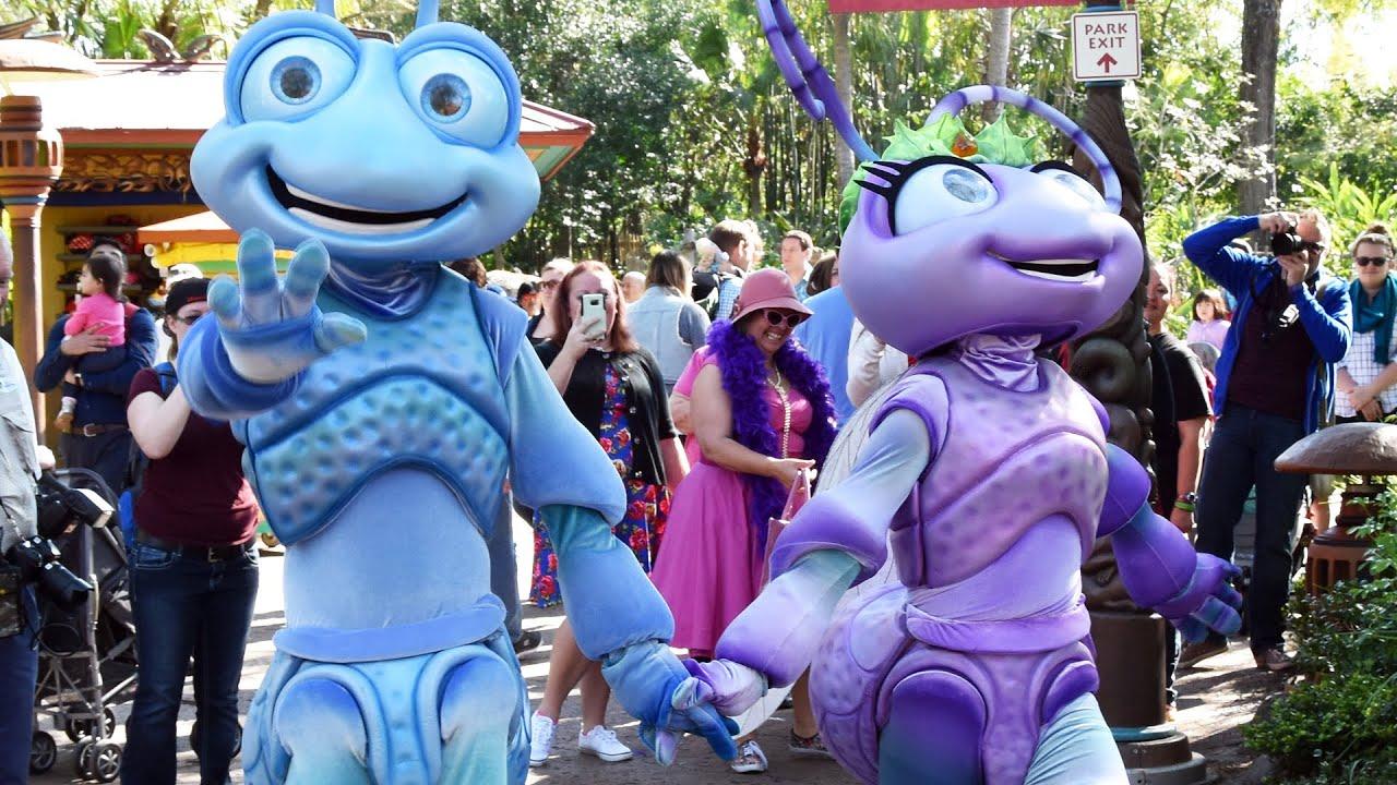 Flik And Princess Atta From Pixars A Bugs Life Meet Greet At
