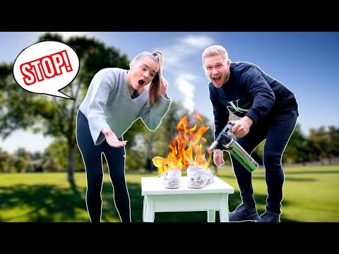 DESTROYING KACI'S SHOES-THEN SURPRISING HER WITH YEEZYS!