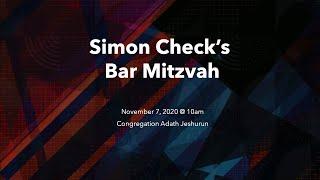 Simon Check's Bar Mitzvah (Live Stream)