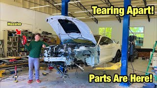 Rebuilding A Totaled Wrecked 2020 Ford Mustang Shelby Gt500 Track Pack From Salvage Auction Part 3