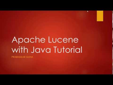 Apache Lucene with Java Tutorial