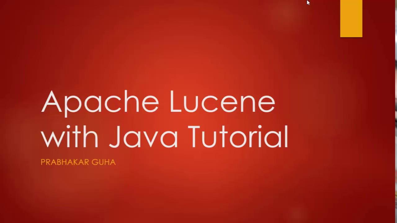 Apache lucene with java tutorial youtube baditri Gallery