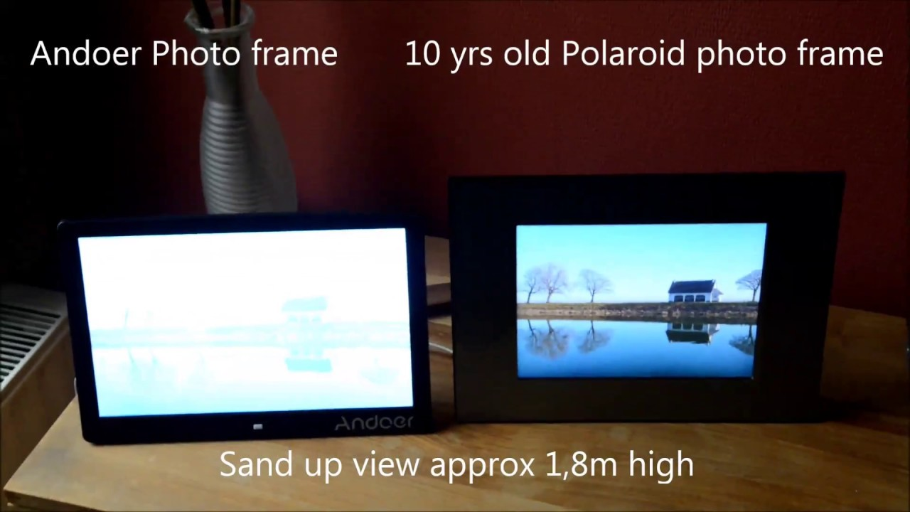 Andoer photo frame test - Crappy results - YouTube