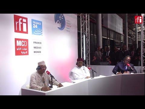 Idriss Déby, Mahamadou Issoufou et Félix Tshisekedi dans une émission spéciale du Débat africain