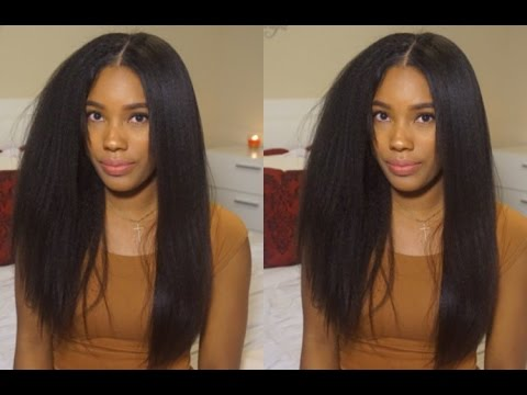 WOWAFRICAN: Styling Most Natural Lace Wig Ever! (Italian Yaki)